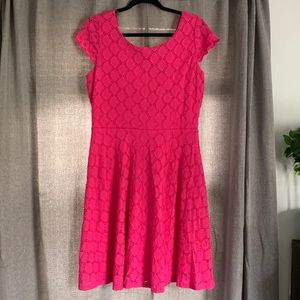 Ronni Nicole Pink Dress Cap Sleeves Size 10